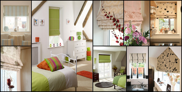 A montage of our Roman Blinds