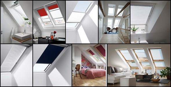 A montage of our Velux Blinds