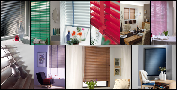A montage of our Venetian Blinds